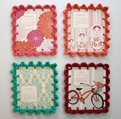 crochet-edged Valentines