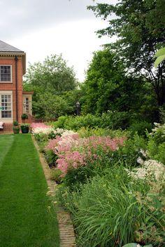 perennial garden, mixed border, astilbe, formal garden