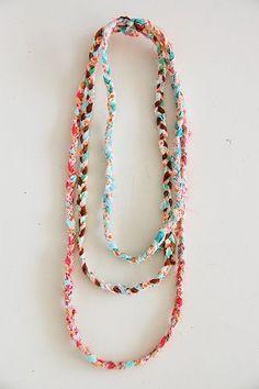 fabric scraps necklaces