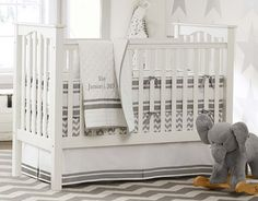 THE perfect gender neutral bedding Harper Gray | Pottery Barn Kids-ships to FRANCE!!!