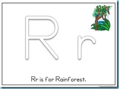 R is for Rainforest printables