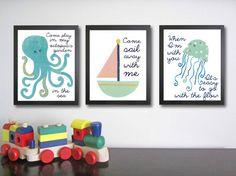 nautical nursery art
