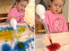 Try some drip painting...