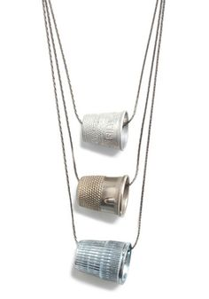 Mom's thimble on a necklace