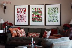 Subway art, free Christmas printable