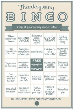 Thanksgiving BINGO p