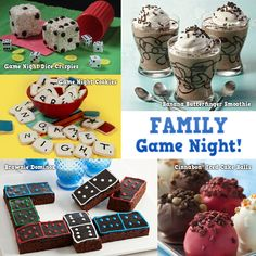 Family Game Night treat ideas #recipes #desserts