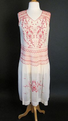 1920s cotton voile dress - perfect for a lawn party!