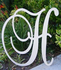 """24"""" PAINTED Large  Wooden Wall Letters - Monogram Letters- Wedding Decor Letters- Nursery Letters. $55.00, via Etsy."""