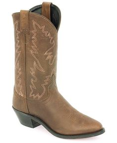 $60 Old West Distressed Leather Cowgirl Boots