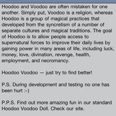 Hoodoo. Vs voodoo