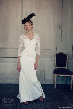 michelle roth wedding dresses 2014 regan three quarter sleeve gown