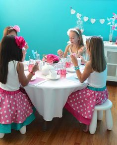 American girl doll vday tea party