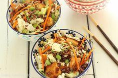 Sesame Tofu Salad with Quinoa|Craving Something Healthy
