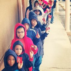 Hoodies up. Justice for Trayvon Martin!