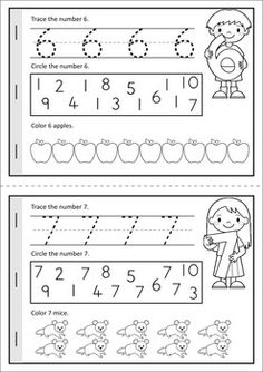 """MEGA Math & Literacy Worksheets & Activities - Down on the Farm. 100 Pages in total!! A page from the unit: """"Counting on the Farm"""" number booklet."""