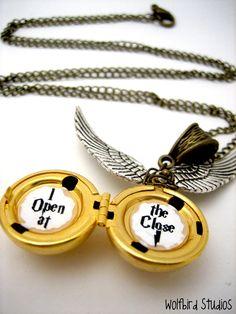 Golden #Snitch locket. #HarryPotter