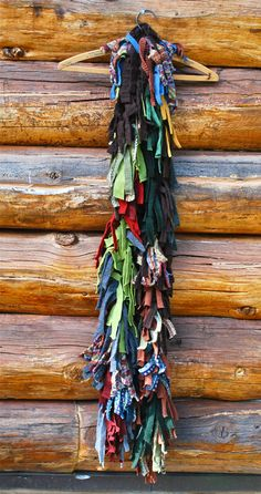 Sweater scrap scarf. Beautiful!!