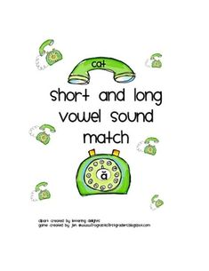 This game focuses on the 5 short and long vowels sounds.  As the student matches the words with the correct vowel, they will record their answer on...