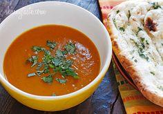 Roasted Red Kuri Coconut Curry Soup