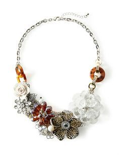 Floral Mix Bib Necklace from THELIMITED.com #TheLimited #Oscars