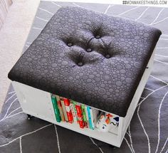 Storage Ottoman - 22 Creative DIY Furniture Makeover Projects