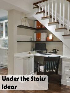 office spaces, desk space, basement stairs, living spaces, guest bedrooms, corner desk, office nook, dream homes, under stairs