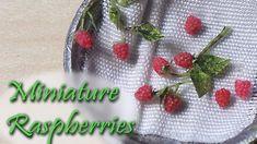 Miniature Raspberries - Raspberry Polymer Clay Tutorial