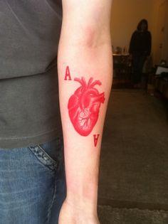 arm tattoos, colors, sleeve tattoos, tattoo patterns, a tattoo, tattoo ink, black, heart tattoos, heart cards