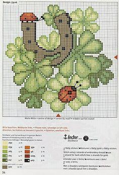 Cross Stitch World: Cross Stitch:_ LADY BUGS (5 schemes).