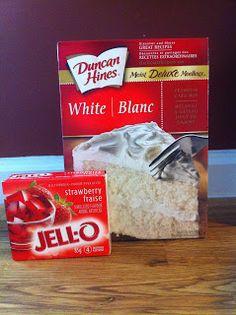 dump cakes, rhubarb recipes, strawberri rhubarb, cake mixes, beltane, strawberry rhubarb dump cake, rhubarb dessert, white cakes, cake recipes
