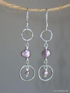 Pearl and Sterling Earrings $22.00