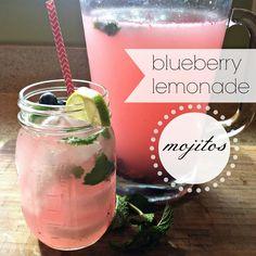 blueberry lemonade mojitos