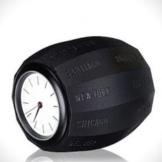 """The perfect clock for your office, the Waals """"World Time Clock"""" allows you tell time from any major city in the world quickly."""