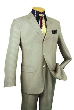 Men's Single Breasted 3 button Tan affordable suit online sale | MensITALY  Price: US $139