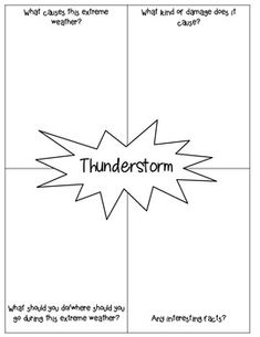 Extreme Weather Research: Graphic Organizer Freebie