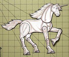 Unicorn Paper Doll - Fantasy Articulated White Unicorn