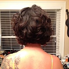 Short digital perm from Jessica Hair Studio in Houston TX. There aren't many pictures of short digital perms on Pinterest so I thought id contribute my own head. #digitalperm #curls #shortdigitalperm #japanesedigitalperm