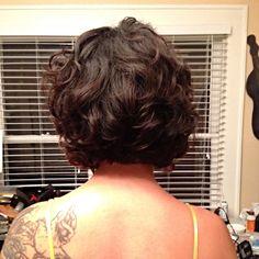 Short digital perm from Jessica Hair Studio in Houston TX. There aren't many pictures of short digital perms on Pinterest so I thought id contribute my own head. #digitalperm #curls #shortdigitalperm #japanesedigitalperm