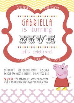 Peppa pig invite