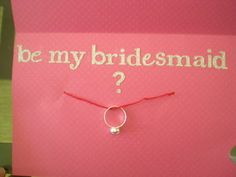 Will you be my bridesmaid card with fun ring