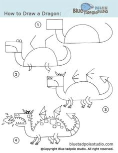 drawing tutorials, dragon craft, drawing steps, dragons, dragon art kids, dessin, how to draw step by step, dragon kids crafts, how to draw a dragon