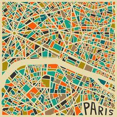 Paris Map #print