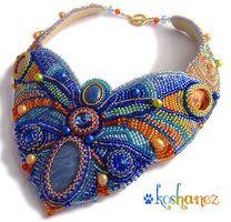 """necklace """"Meadow Moth"""" by koshanez"""