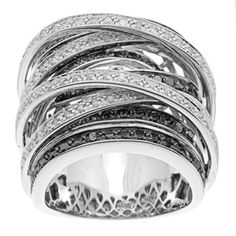 @Overstock.com - Black and white diamond wide crossover ring10-karat white gold jewelry Click here for ring sizing guidehttp://www.overstock.com/Jewelry-Watches/Beverly-Hills-Charm-10k-Gold-1-1-2ct-TDW-Black-and-White-Diamond-Crossover-Ring/6051606/product.html?CID=214117 $1,499.99