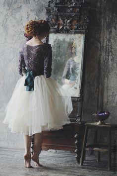 Navy, Teal, ballerina skirt