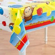 Curious George Plastic Table Cover$6.99