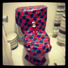 300+ Elf on the Shelf Photos  Wrapping the throne