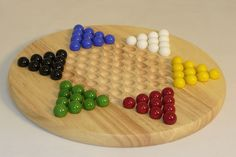 Wood Chinese Checkers Board Game. #familyboardgames #chesssets