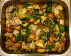 Pan Roasted Chicken and Veggies  This REALLY is delicious.